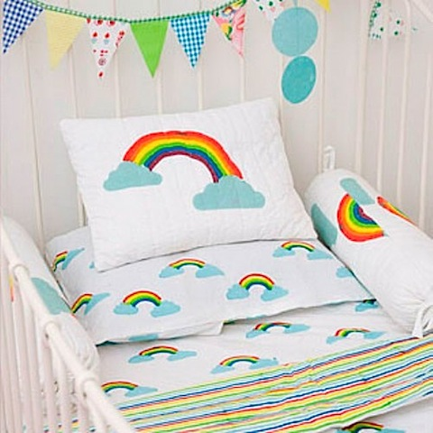 lulu and nat rainbow cot bedding