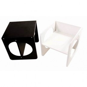 2 in 1 - Chair Becomes Table - White</p> <p>Enlarge image+<br /> 2 in 1 - Chair Becomes Table - White by sebra