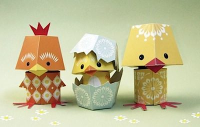 Paper Chicks & Bunnies to Download from Mibo