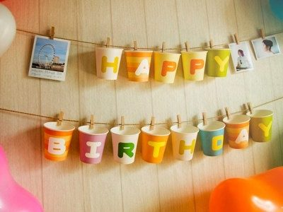 Party Candy: ABC Paper Cups