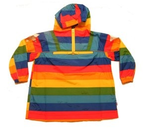 Molo rainbow print pull over the head rain jacket