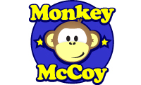 Monkey McCoy logo for Bambino Goodies Hot Shop