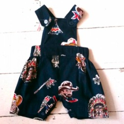 Cowboy & Indians Dungarees by Their Nibs