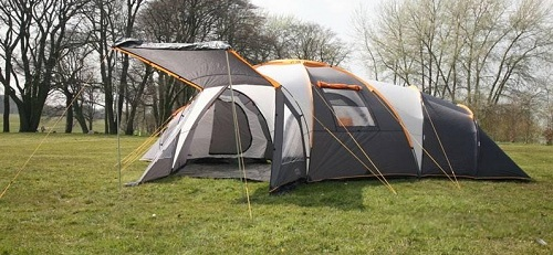 This is more like a house than a tent. The Rage Tromso Deluxe sleeps 8 in three bedrooms compartments arranged around a large central living space. & Tents for Family Camping