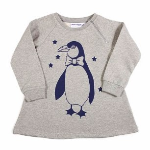 Penguin Sweatshirt Dress by Mini Rodini