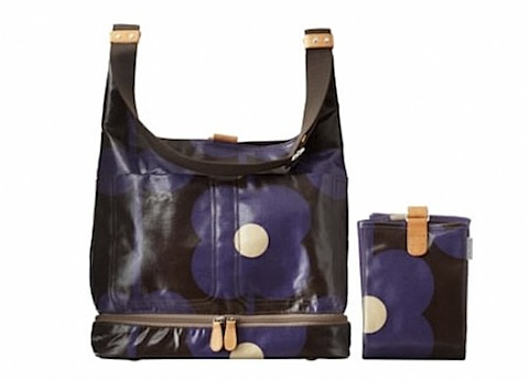 orla kiely flower abacus baby bag - grape