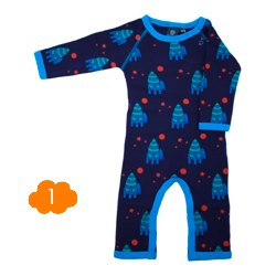 ej eikke lej Dark Blue Rocket Long Sleeved Cotton Suit