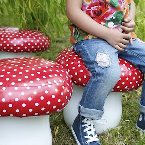 Vinyl Toadstool seating