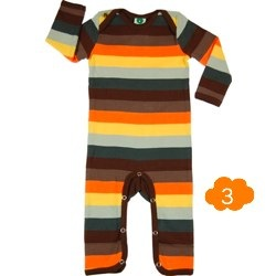 Brown stripe bodysuit by Smafolk