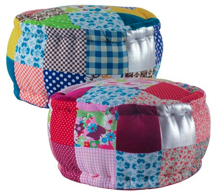 Rice Mini Patchwork Pouf
