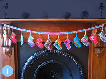Crochet socks advent calendar from Zac & Ily at Not on the High Street
