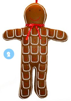Gingerbread man reusable advent calendar from Orchard Cards