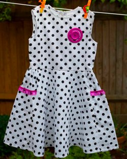 Minor Edition Polka dot dress