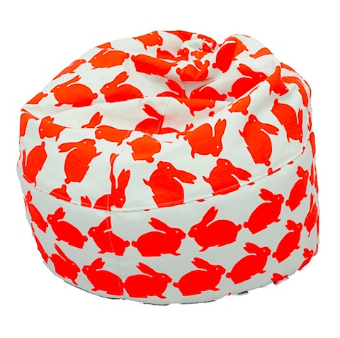 Anorak Kissing Rabbits Beanbag