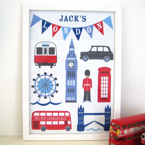 Sweet Home London print