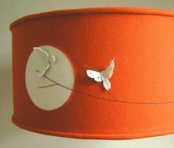 The Wool Room moth lampshade