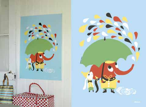 Rain Littlephant print