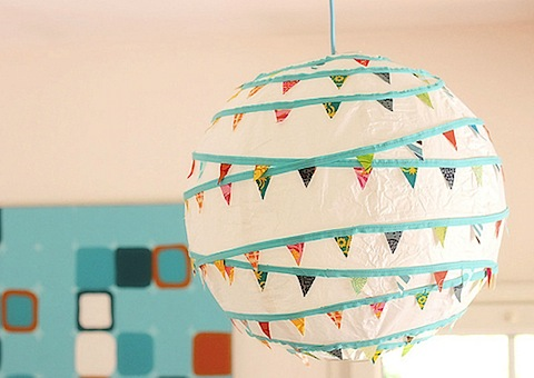 Bunting Lightshade Tutorial