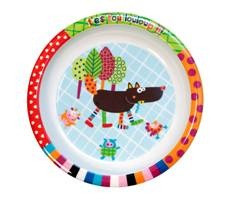 Louloup Wolf Melamine Plate