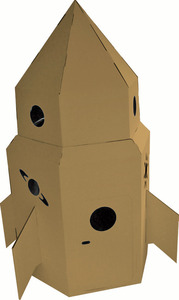 Kid-Eco Cardboard Rocket at Red Jelly Kids