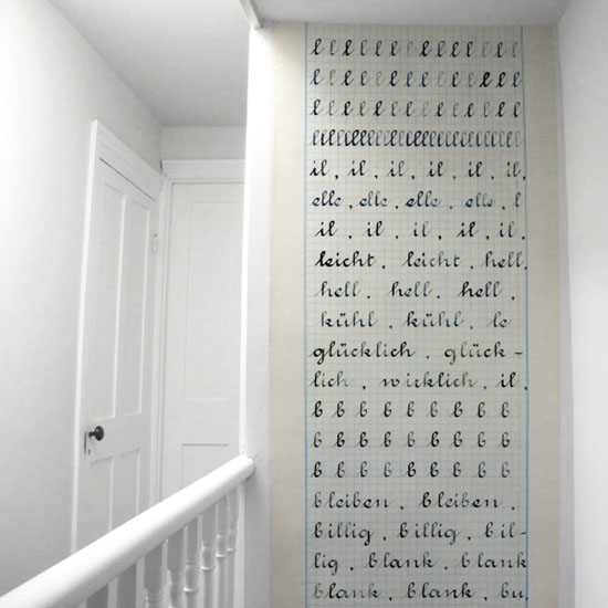 Cahier d&#039;ecriture wallpaper by Madame Chalet at Bodie and Fou