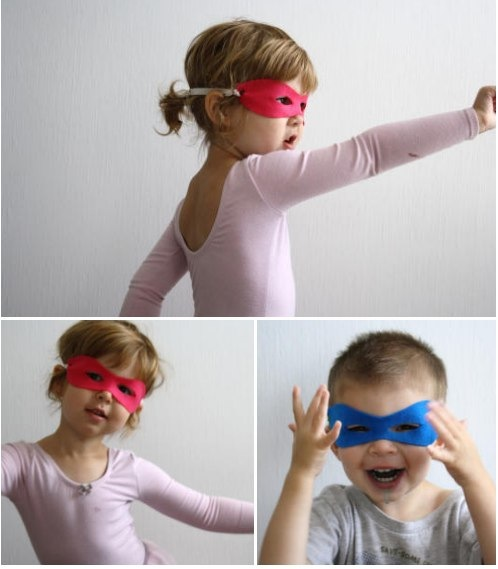 kinderpendent no-sew superhero mask tutorial