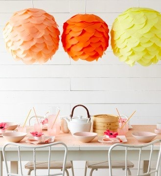 paper lanterns at Martha Stewart