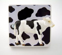 Candy Queen Designs cow lightswitch