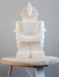 Rose & Grey robot lamp