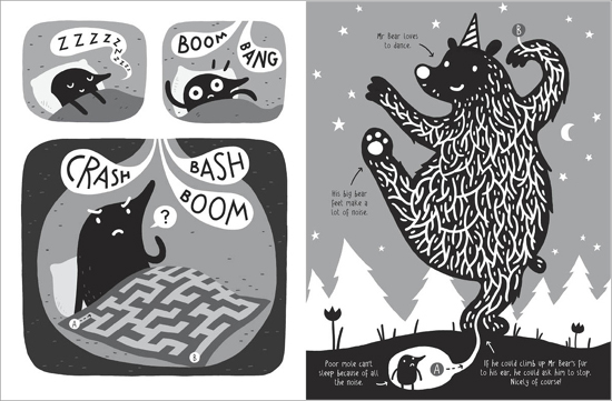 Spread from Thomas Flintham's Marvellous Mazes