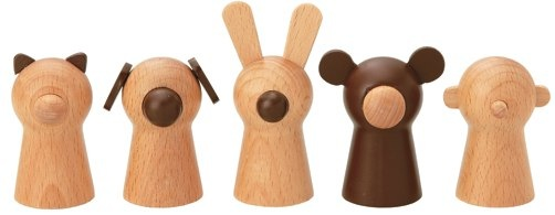 wooden finger puppets