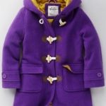 Funky duffle coat in purple by Boden
