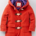 Funky duffle coat in pumpkin by Boden