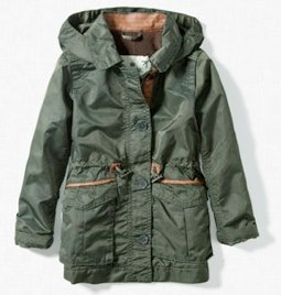 Zara PARKA WITH LEATHER DETAILS