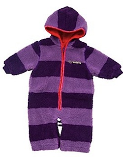 Katvig Grape Stripe Fleece Baby Suit / Stroller Bag 