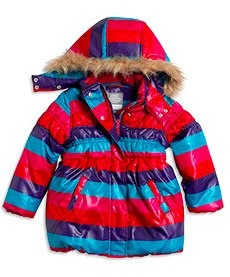 Padded multi stripe jacket by Lindex