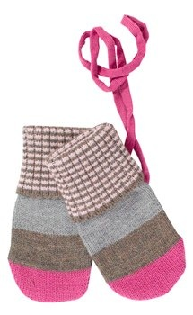 Lille Barn Berry Blush Stripe Merino Wool Mittens 