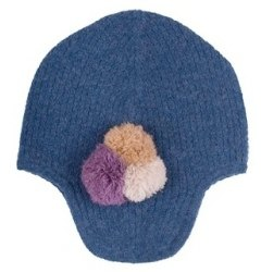 Lambswool Hat - Blueberry - by Hucklebones