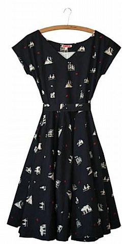 Grace women's dress Tea Party, navy