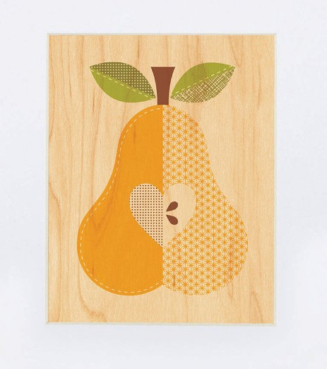 Fruit Pear Print Petit Collage
