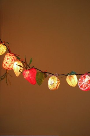 Fruit fairy lights
