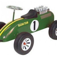 Classic F1 Green Racing Car Ride on at MollieBee - Funky Baby Shop