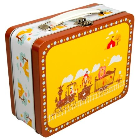 Blafre Design Tin Suitcase Circus Train