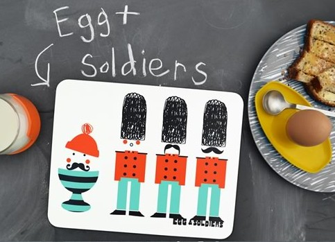 Egg and Soldiers Place Mats