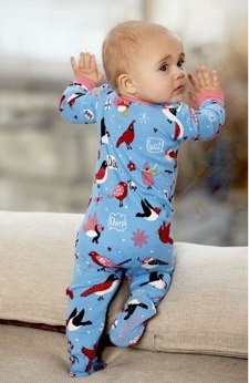 Winter Birds Sleepsuit by Hatley