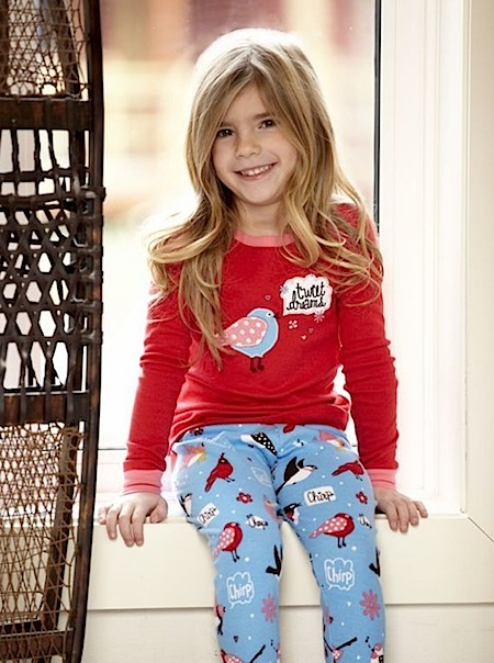Winter Birds Applique Pyjamas by Canadian designer Hatley.