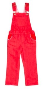Tootsa Macginty red dungarees