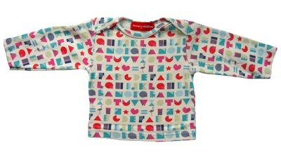 Alphabet print long sleeve t-shirt by Flamingos & Dominoes