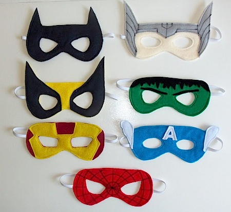 Superhero Party Masks by Cutesy Crafts