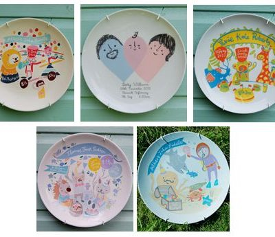 Custom Birth Plates from The Little Peach